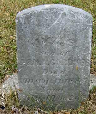 GARDNER, A - Williams County, Ohio   A GARDNER - Ohio Gravestone Photos
