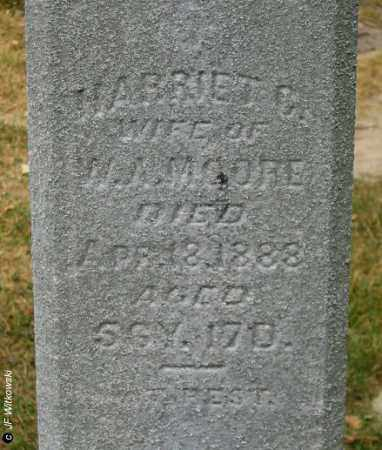 HIGLEY MOORE, HARRIETT CORNELIA - Williams County, Ohio | HARRIETT CORNELIA HIGLEY MOORE - Ohio Gravestone Photos