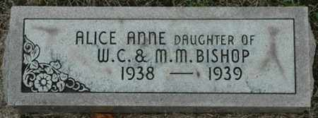 BISHOP, ALICE ANNE - Wood County, Ohio | ALICE ANNE BISHOP - Ohio Gravestone Photos