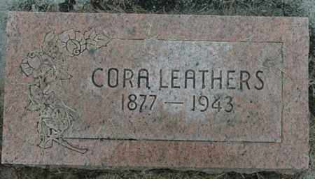 LEATHERS, CORA - Wood County, Ohio | CORA LEATHERS - Ohio Gravestone Photos