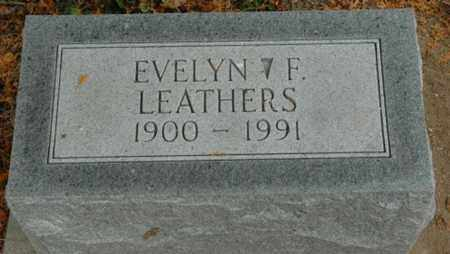 KALMBACH LEATHERS, EVELYN F. - Wood County, Ohio | EVELYN F. KALMBACH LEATHERS - Ohio Gravestone Photos