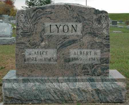 LYON, ALBERT B. - Wood County, Ohio | ALBERT B. LYON - Ohio Gravestone Photos