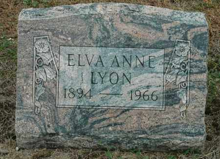 LYON, ELVA ANNE - Wood County, Ohio | ELVA ANNE LYON - Ohio Gravestone Photos
