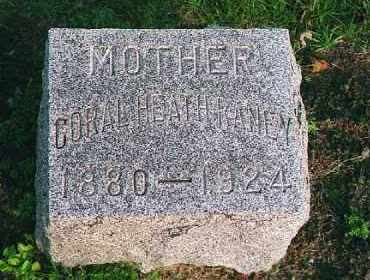 HEATH RANEY, CORAL - Wood County, Ohio | CORAL HEATH RANEY - Ohio Gravestone Photos