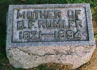 RUMLER, HANNAH - Wood County, Ohio | HANNAH RUMLER - Ohio Gravestone Photos