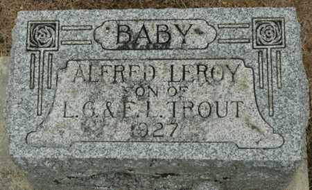 TROUT, ALFRED LEROY - Wood County, Ohio | ALFRED LEROY TROUT - Ohio Gravestone Photos