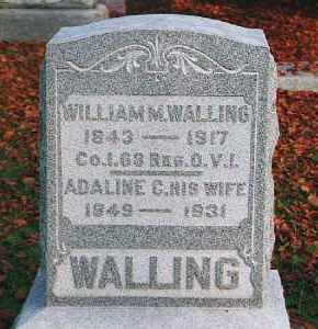 WALLING, ADELINE CAROLINE - Wood County, Ohio | ADELINE CAROLINE WALLING - Ohio Gravestone Photos
