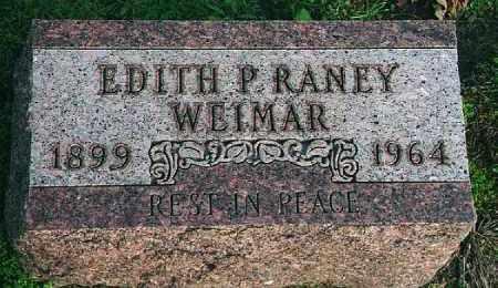 WEIMAR, EDITH P. RANEY - Wood County, Ohio | EDITH P. RANEY WEIMAR - Ohio Gravestone Photos