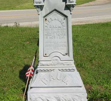 BAUM, ALEXANDER - Wyandot County, Ohio | ALEXANDER BAUM - Ohio Gravestone Photos