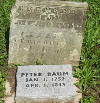 BAUM, PETER - Wyandot County, Ohio | PETER BAUM - Ohio Gravestone Photos