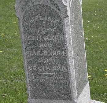 BEAVEN, EMELINE - Wyandot County, Ohio | EMELINE BEAVEN - Ohio Gravestone Photos
