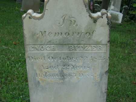 BITZER, ENOCH - Wyandot County, Ohio | ENOCH BITZER - Ohio Gravestone Photos