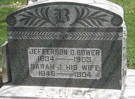 BOWER, JEFFERSON D. - Wyandot County, Ohio | JEFFERSON D. BOWER - Ohio Gravestone Photos
