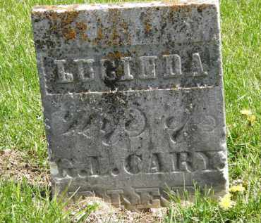 CARY, LUCINDA - Wyandot County, Ohio | LUCINDA CARY - Ohio Gravestone Photos