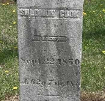COOK, SOLOMON - Wyandot County, Ohio | SOLOMON COOK - Ohio Gravestone Photos
