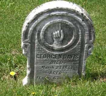 DAVIS, GEORGE - Wyandot County, Ohio | GEORGE DAVIS - Ohio Gravestone Photos