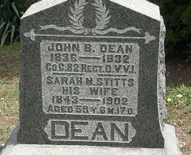 DEAN, JOHN B. - Wyandot County, Ohio | JOHN B. DEAN - Ohio Gravestone Photos