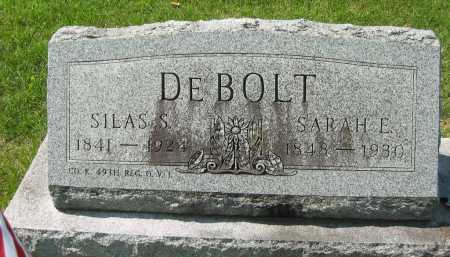 DEBOLT, SILAS S. - Wyandot County, Ohio | SILAS S. DEBOLT - Ohio Gravestone Photos