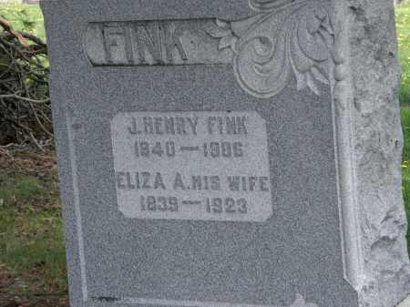 FINK, ELIZA A. - Wyandot County, Ohio | ELIZA A. FINK - Ohio Gravestone Photos