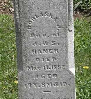 HANER, DORLASKA J. - Wyandot County, Ohio | DORLASKA J. HANER - Ohio Gravestone Photos