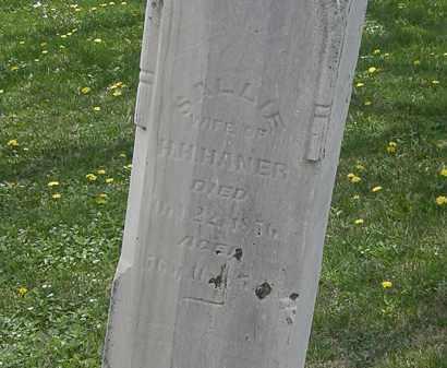 HANNER, H.H. - Wyandot County, Ohio | H.H. HANNER - Ohio Gravestone Photos