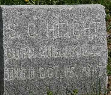 HEIGHT, S.C. - Wyandot County, Ohio | S.C. HEIGHT - Ohio Gravestone Photos