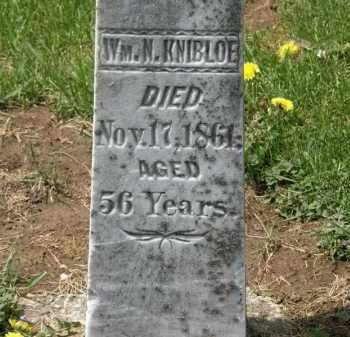 KNIBLOE, WM. N. - Wyandot County, Ohio   WM. N. KNIBLOE - Ohio Gravestone Photos