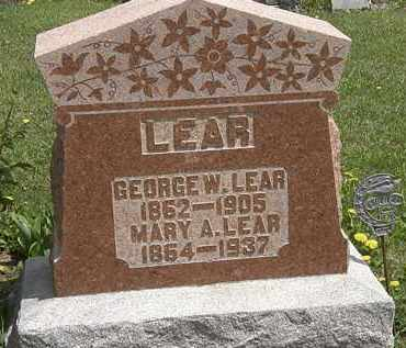 LEAR, MARY A. - Wyandot County, Ohio | MARY A. LEAR - Ohio Gravestone Photos
