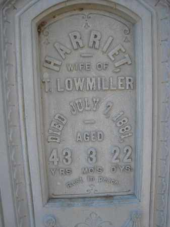 LOWMILLER, HARRIET (CLOSEUP) - Wyandot County, Ohio | HARRIET (CLOSEUP) LOWMILLER - Ohio Gravestone Photos