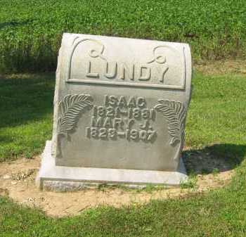 LUNDY, MARY J. - Wyandot County, Ohio | MARY J. LUNDY - Ohio Gravestone Photos