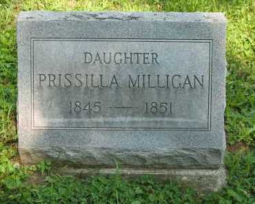 MILLIGAN, PRISSILA - Wyandot County, Ohio | PRISSILA MILLIGAN - Ohio Gravestone Photos