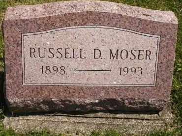 MOSER, RUSSELL DALE - Wyandot County, Ohio | RUSSELL DALE MOSER - Ohio Gravestone Photos