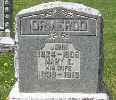 ORMEROD, MARY E. - Wyandot County, Ohio | MARY E. ORMEROD - Ohio Gravestone Photos