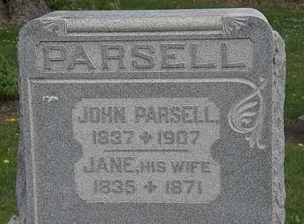 PARSELL, JANE - Wyandot County, Ohio | JANE PARSELL - Ohio Gravestone Photos