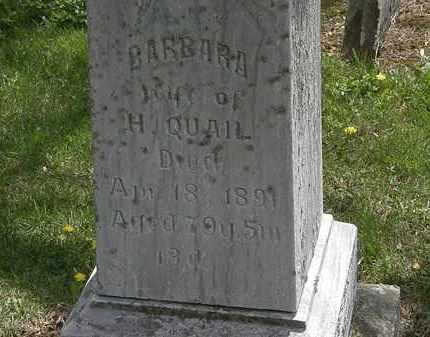 QUAIL, BARBARA - Wyandot County, Ohio | BARBARA QUAIL - Ohio Gravestone Photos