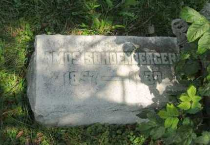 SCHOENBERGER, AMOS - Wyandot County, Ohio | AMOS SCHOENBERGER - Ohio Gravestone Photos