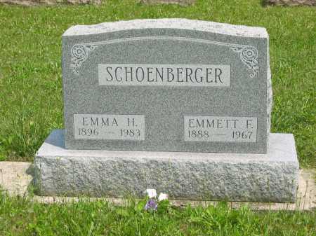 SCHOENBERGER, EMMETT F. - Wyandot County, Ohio | EMMETT F. SCHOENBERGER - Ohio Gravestone Photos
