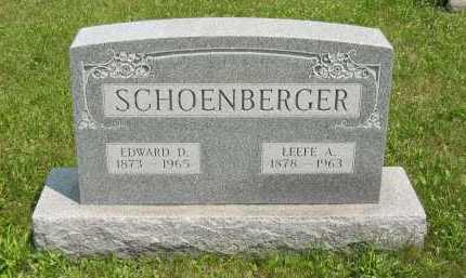 WEBER SCHOENBERGER, LEEFE ALMA - Wyandot County, Ohio | LEEFE ALMA WEBER SCHOENBERGER - Ohio Gravestone Photos