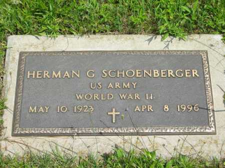 SCHOENBERGER, HERMAN G. - Wyandot County, Ohio | HERMAN G. SCHOENBERGER - Ohio Gravestone Photos