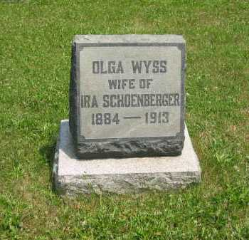 SCHOENBERGER, OLGA - Wyandot County, Ohio | OLGA SCHOENBERGER - Ohio Gravestone Photos