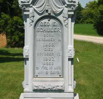 SCHULER, GEO. E. - Wyandot County, Ohio | GEO. E. SCHULER - Ohio Gravestone Photos