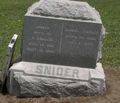 SNIDER, DANIEL - Wyandot County, Ohio | DANIEL SNIDER - Ohio Gravestone Photos