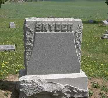SNYDER, FAMILY MARKER - Wyandot County, Ohio | FAMILY MARKER SNYDER - Ohio Gravestone Photos