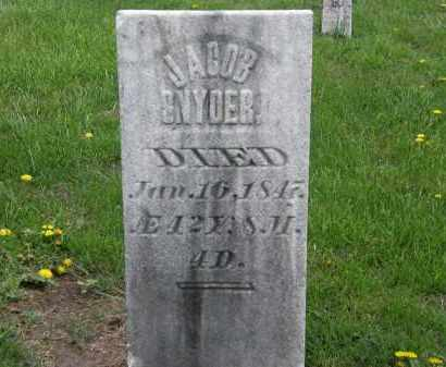 SNYDER, JACOB - Wyandot County, Ohio | JACOB SNYDER - Ohio Gravestone Photos