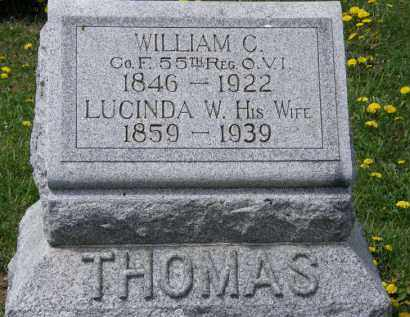 THOMAS, LUCINDA W. - Wyandot County, Ohio | LUCINDA W. THOMAS - Ohio Gravestone Photos