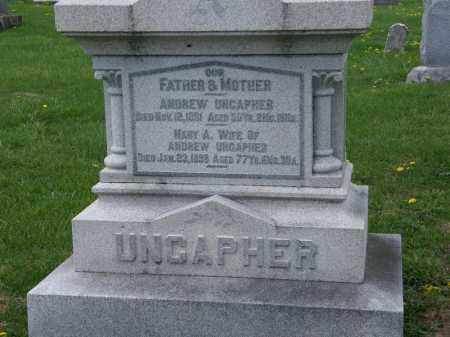 UNCAPHER, ANDREW - Wyandot County, Ohio | ANDREW UNCAPHER - Ohio Gravestone Photos