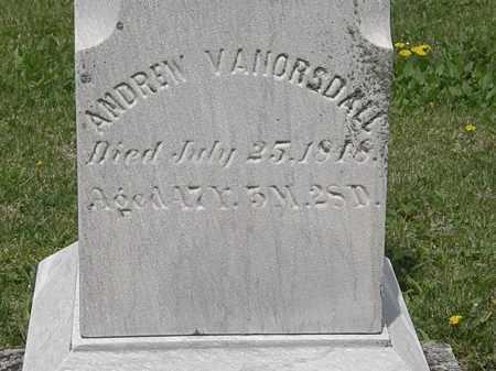 VANORSDALL, ANDREW - Wyandot County, Ohio | ANDREW VANORSDALL - Ohio Gravestone Photos
