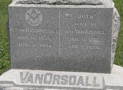 VANORSDALL, ABRAM H. - Wyandot County, Ohio | ABRAM H. VANORSDALL - Ohio Gravestone Photos